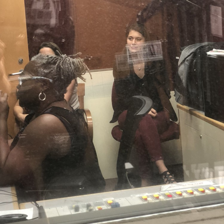 Adele at studio